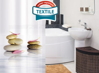 купить Штора в ванную Textile Tatkraft STONE GARDEN 14824/21044 в Кишинёве
