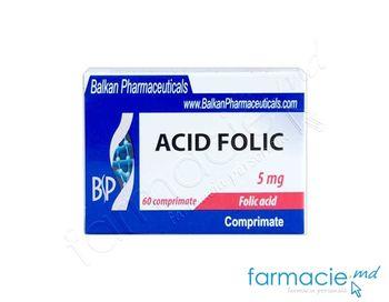 cumpără Acid folic comp.5 mg N20x3(Balkan) în Chișinău