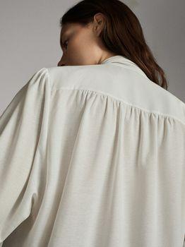 Блуза Massimo Dutti Слоновая кость 6806/509/251