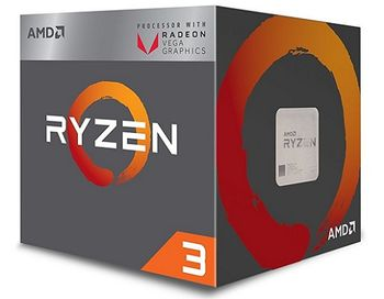 AMD Ryzen 3 2200G, Socket AM4, 3.5-3.7GHz (4C/4T), 4MB L3, Integrated Radeon Vega 8 Graphics, 14nm 65W, BOX (with Wraith Stealth 65W Cooler)