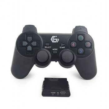 Gembird JPD-WDV-01  2.4 GHz Wireless dual vibration gamepad, 12 action buttons, 2 sticks and 4-way D-pad,, Black