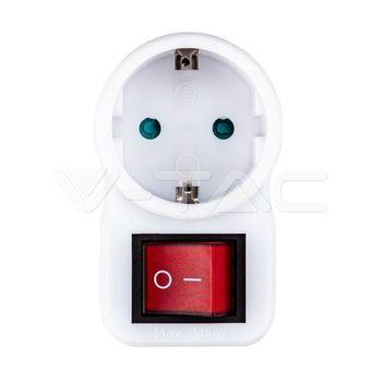 купить 8841 Адаптер с выключателем 16А белый в Кишинёве