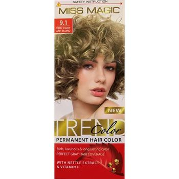 Краска для волос,SOLVEX Miss Magic, 90 мл., 9.1 - Блондин пепельный