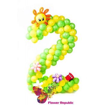 купить Цифра 2 плетеная из шаров в Кишинёве