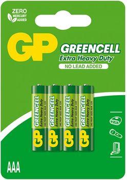 купить Батарейка GP 1.5V Greencell AAA 24AG-UE4 (24G-U4)  (4 шт.блистер) в Кишинёве