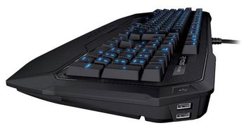 ROCCAT Ryos MK Pro / Mechanical Gaming Keyboard with Per-Key Illumination, Mechanical keys (Cherry® MX Brown key switch), Integrated media HUB (Audio in/out + 2xUSB2.0), 2x ARM CPU+memory, 500 programmable macros, EASY-SHIFT[+]™, USB
