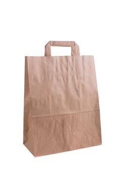 Бумажные крафт пакеты с плоскими ручками 22*10*32