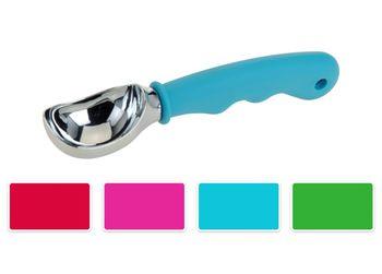 Ложка для мороженого 18cm, ручка разных цветов