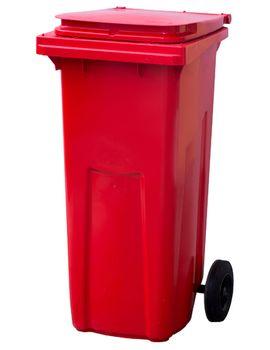 120L, Kонтейнеры для мусора, красный