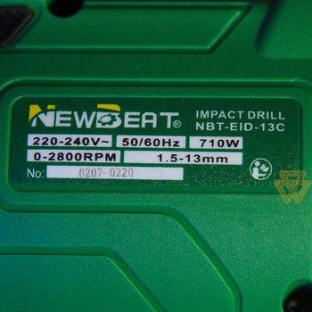 купить Ударная дрель NewBeat NBT-EID-13C / 710W в Кишинёве
