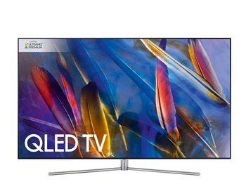 """купить """"65"""""""" LED TV Samsung QE65Q7F, Silver (3840x2160 UHD, SMART TV, PQI 3100Hz, DVB-T2/C/S2) (65"""""""" QLED Flat 3840x2160 4K UHD Premium, PQI 3100Hz, SMART TV (Tizen OS), Q HDR 1500, Q Engine, Quantum Dot Color, 10bit Support, Ultra Black, 4 HDMI, 3 USB (foto, audio, video), DVB-T/T2/C/S2, OSD Language: ENG, RO, Speakers 40W (10 W x 2 + 10 W x 2 subwoofer), 28.2Kg VESA 400x400 )"""" в Кишинёве"""