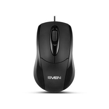Mouse SVEN RX-110, Optical Mouse, 1000 dpi, USB, Black (mouse/мышь)