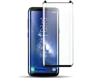 480019 Screen Geeks sticla protectie Samsung S8 Full Cover Glass Pro All Glue 4D Black (защитное стекло для смартфонов Samsung в асортименте)