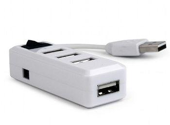 Gembird USB2.0 Hub UHB-U2P4-21, 4 ports, USB 2.0, White