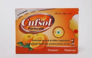 Cufsol со вкусом апельсина леденцы N12