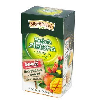 купить Чай зеленый Big Active with Opunia & Mango, 20 шт в Кишинёве