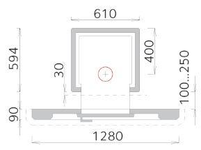 Печь для бани дровяная - Tulikivi TK 550/2 (SS928)