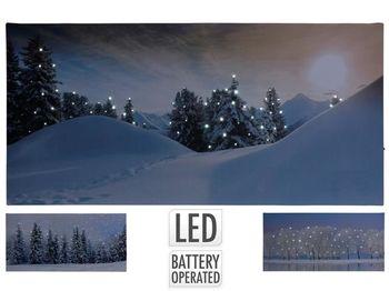 """Картина LED """"Рождественская ночь"""" 58X28cm"""