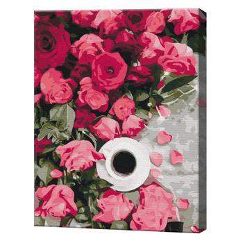 Розовые розы, 40х50 см, картина по номерам  BS51358