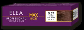 Краска для волос,SOLVEX Elea Max, 100 мл., 5.57 - Светлый шатен золотистый