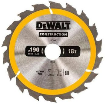 Диск для резки Dewalt DT1943 18T