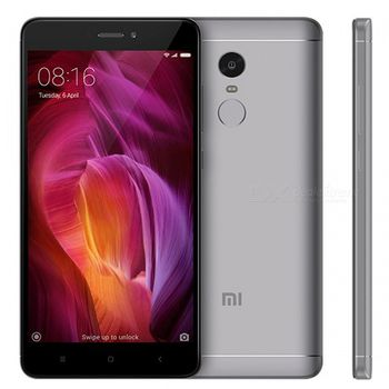 "Xiaomi RedMi Note 4X CN 16GB Gray,  DualSIM, 5.5"" 1080x1920 IPS, Snapdragon 625, Octa-Core 2.0GHz, 3GB RAM, Adreno 506, microSD (SIM 2 slot), 13MP/5MP, LED flash, 4100mAh, WiFi-AC/BT4.1, LTE, Android 6.0 (MIUI8), Infrared port, Fingerprint"