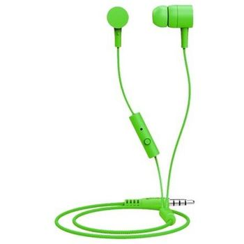 """MAXELL """"Spectrum"""" Green, Earphones with in-line Microphone, Hands free calling features, 3 sets of ear tips, Fabric braided cord, Cord type cable 1.2 m"""