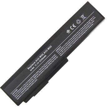 Battery Asus N53 N43 G50 N61 X55S G51 L50 G60 M60 Pro62 A32-M50 A32-N61 A32-X64 A33-M50 A32-H36 11.1V 5200mAh Black OEM