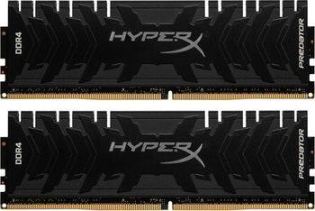 32GB (Kit of 2*16GB) DDR4-2666  Kingston HyperX® Predator DDR4 (Dual Channel Kit), PC21300, CL13, 1.35V, Asymmetric BLACK low-profile heat spreader, Intel XMP Ready (Extreme Memory Profiles)