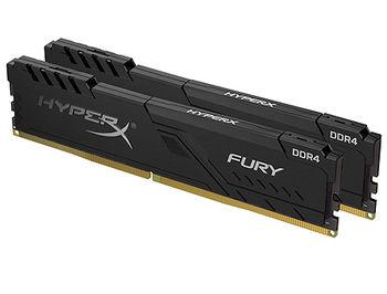 16GB DDR4 Dual-Channel Kit Kingston HyperX FURY Black HX432C16FB3K2/16 16GB (2x8GB) DDR4 PC4-25600 3200MHz CL16, Retail (memorie/память)