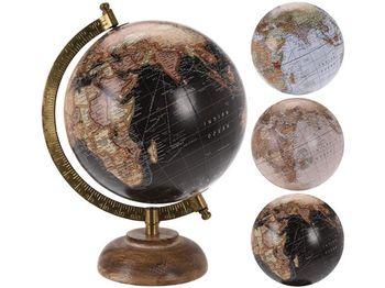 Глобус древянный H24, D15cm, 4 вида