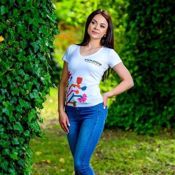 cumpără Женская футболка с печатью - Древо Жизни 1/2 în Chișinău