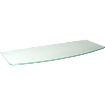 купить Полка выгнутая Glassline 600x200/240x8 мм, матовое стекло в Кишинёве