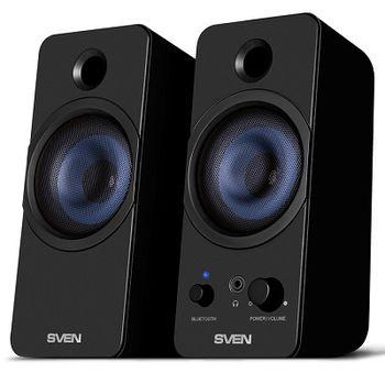 "SVEN 431 Black (USB),  2.0 / 2x3W RMS, Bluetooth, USB or 5V DC power supply, headphone jack, 3"""