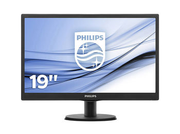 "Monitor 18.5"" PHILIPS LED 193V5LSB2 Glossy Black (5ms, 10000000:1, 200cd, 1366x768)"