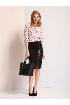 Блуза TOP SECRET Пастельный розовый с принтом SKL2255RO