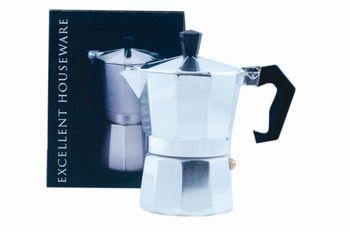 Кофеварка на 3 чашки EH, алюминевая