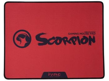 """MARVO """"G18R"""", Gaming Mouse Pad, Dimensions: 450 x 350 x 4 mm, Material: rubber base + microfiber, Red"""