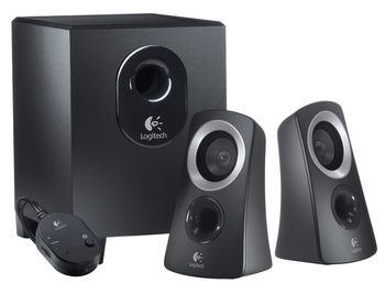 купить Speaker Logitech z213 ,2.1/7w rms,wired RC ,Black в Кишинёве