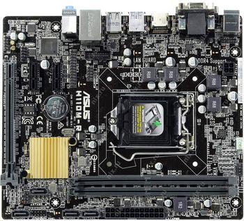 ASUS H110M-R/C/SI, Socket 1151, Intel® H110, Dual 2xDDR4-2133, 1xPCIe X16, CPU Intel graphics, DVI, HDMI, 4xSATA3, 2xPCIe X1, ALC887 7.1ch HDA, GigabitLAN, 4xUSB3.0, mATX
