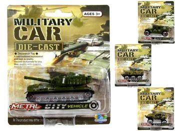 Машина-модель военная DIE-CAST 7cm, ассортименте, металл