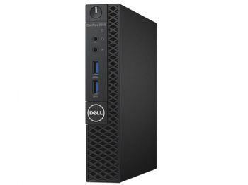 DELL OptiPlex 3050 MFF +Win7/10 Pro lntel® Core® i3-6100T (Dual Core, 3.20GHz, 3MB), 4GB DDR4 RAM, 256GB M.2 SSD, no ODD, lnteI® HD530 Graphics, 65W PSU, USB mouse, USB KB216-B, Win 7 Pro (Win 10 Pro), Black