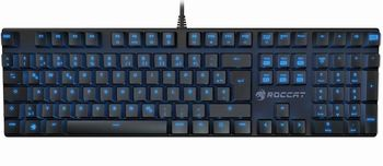 ROCCAT Suora / Frameless Mechanical Gaming Keyboard, Mechanical keys, Advanced anti-ghosting, 6 Macro keys, Blue key back-lighting (11-level brightness), Game mode button, USB, US Layout, Black