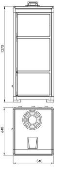 купить Печь твердотопливная с водяным контуром - TEBA T-40 в Кишинёве