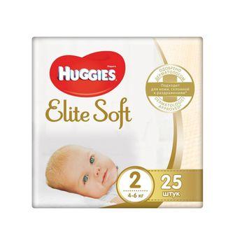 купить Подгузники Huggies Elite Soft 2 (3-6 кг) 25 шт в Кишинёве