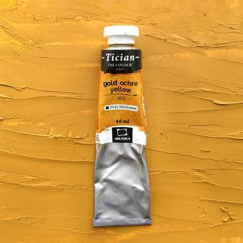 Масляная краска Tician, Охра золотистая, 46 мл