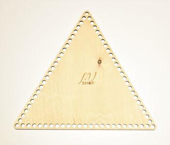 Formă din lemn triunghi, 25 cm