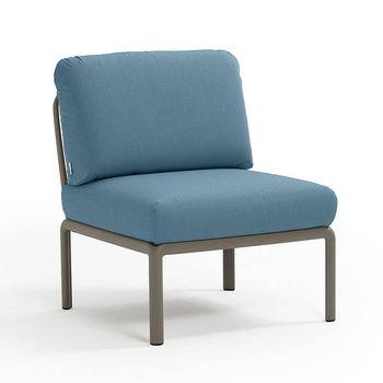 Кресло модуль центральный с подушками Nardi KOMODO ELEMENTO CENTRALE TORTORA-adriatic Sunbrella 40373.10.142