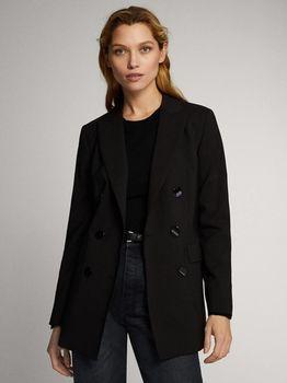 Пиджак Massimo Dutti Чёрный 6004/518/800