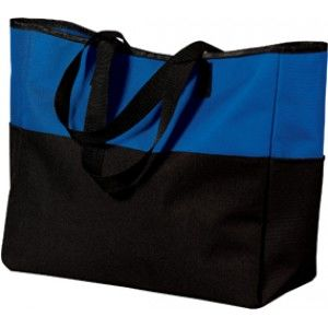 "PORT NetBags Line/BICOLOR BLUE 11.6/7-11.6"" Bag-Black/Blue-Nylon Material-2 handles for transportation-pockets front and rear"